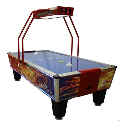 Gold Flare Air Hockey Table